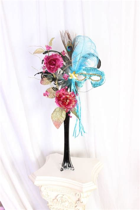 Centerpiece For A Quinceanera Sweet 10 Centerpieces Quinceanera Sweet Sixteen Masquerade Mardi