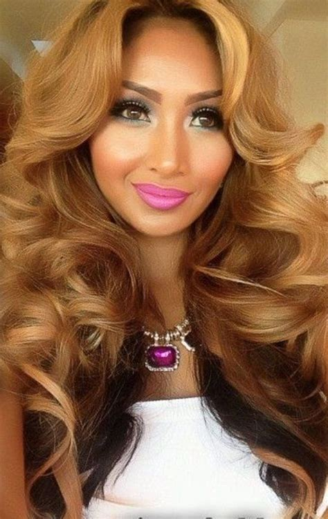 honey blond women of color long straight haircut ideas hairs picture gallery