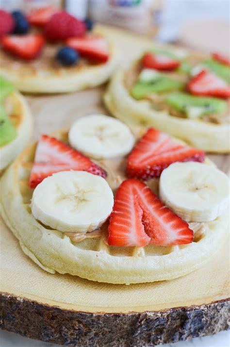 fruit e bars remix waffle fruit pizzas
