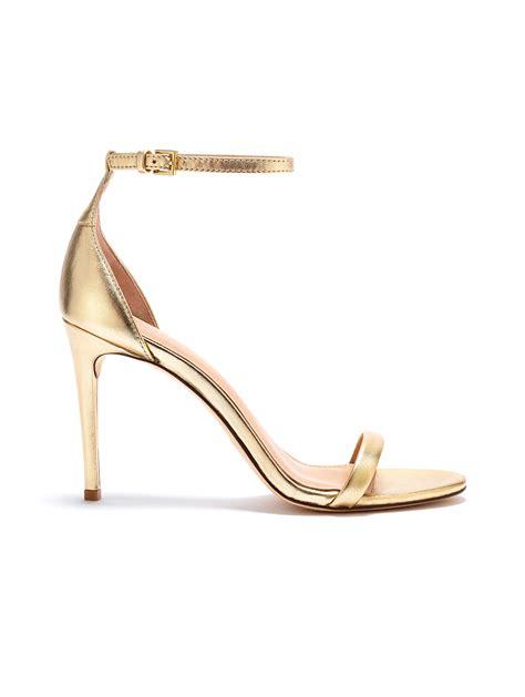 Heeled Sandals zoe ema metallic leather heeled sandals