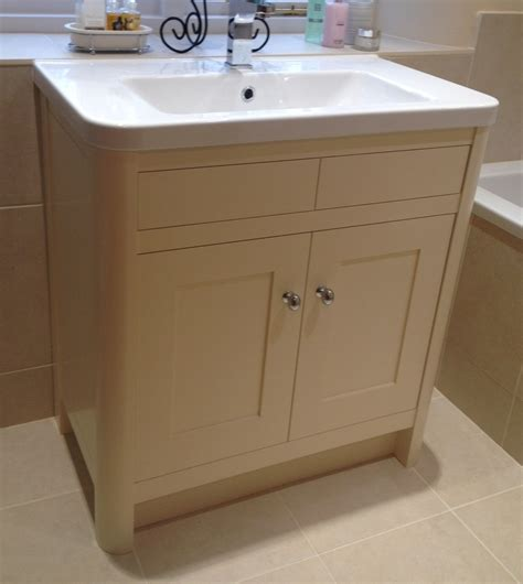 Painted Bathroom Furniture Bespoke Bathroom Vanity Units Oak And Painted Dc Furniture