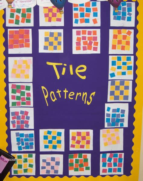 pattern activities early years tile patterns classroom display photo sparklebox