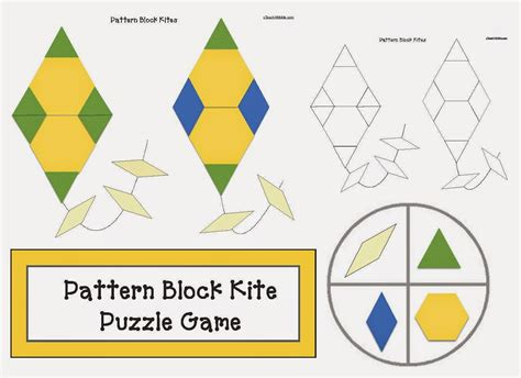 pattern block games classroom freebies pattern block kite puzzle games