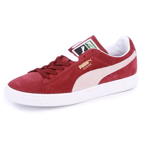 pumas shoes suede classic 352634 75 unisex laced suede trainers