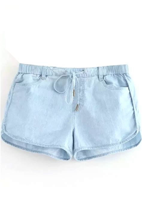 light blue shorts light blue thin drawstring shorts