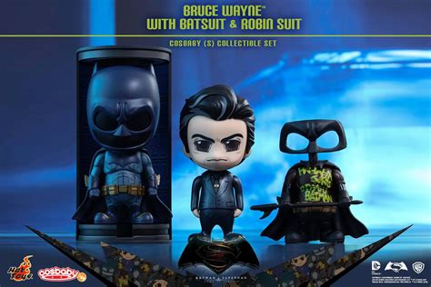 Toys Cosbaby Bvs Superman Boxset the blot says batman v superman bruce wayne with defaced robin suit cosbaby box set by toys