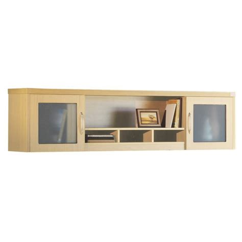 Wall Hutches mayline aberdeen series 72 wall mount glass door hutch