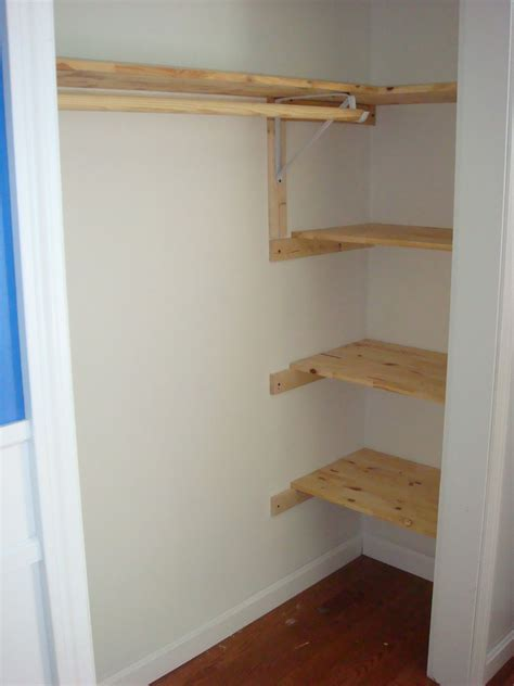Wood Closet Shelf by Handy Crafty Handy Boy S Closet Before After