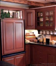 Red Kitchen Cabinets by Pictures Of Kitchens Traditional Red Kitchen Cabinets