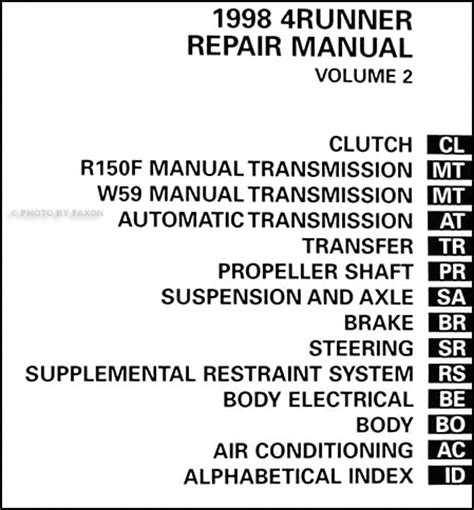 small engine service manuals 2011 toyota 4runner auto manual service manual auto repair manual online 1998 toyota 4runner transmission control service