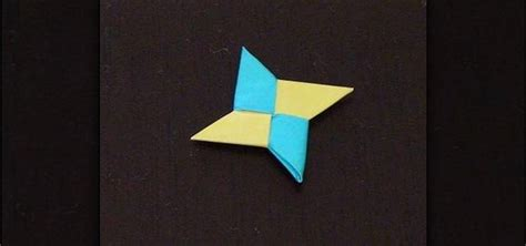 Origami Shuriken - how to mak an origami with two square papers