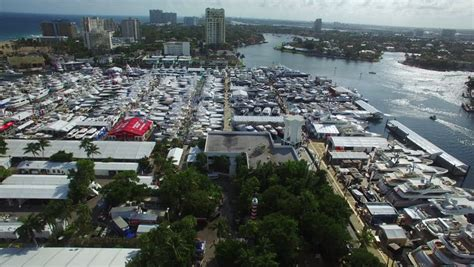 fort lauderdale boat show video fort lauderdale november 4 aerial drone video of the