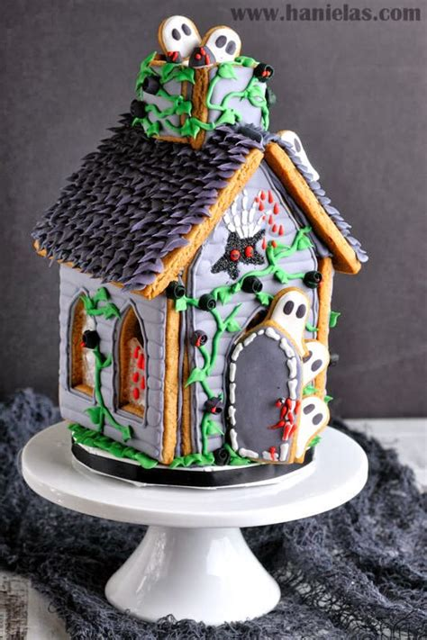 haunted gingerbread house kit haniela s gingerbread haunted house for halloween