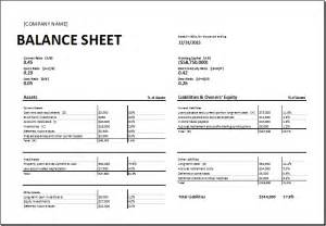 Business Balance Sheet Exle by Calculating Ratios Balance Sheet Template For Excel