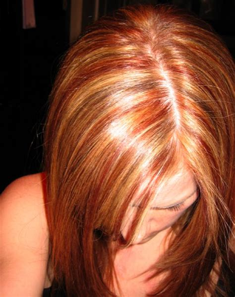 hairstyles red and blonde red and black hair color ideas images bakuland
