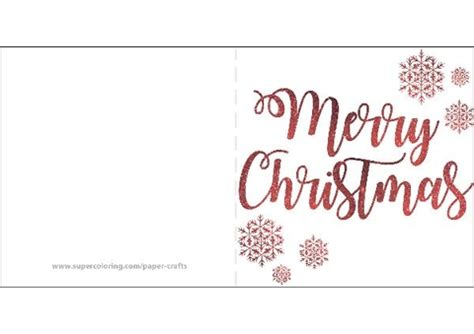 Merry Christmas With Snowflakes Card Template Free Printable Papercraft Templates Merry Card Templates