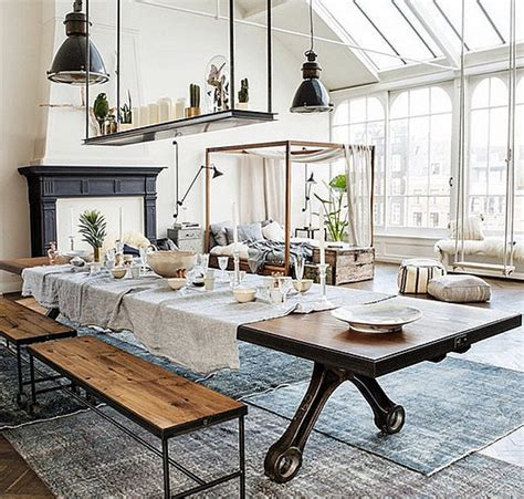 industrial interiors home decor interior design decoration home decor loft modern