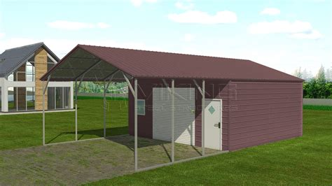 Carport With Storage by 20x36 Steel Carport With Storage