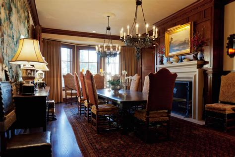 Dining Room And Fireplace 5a Dining Room With Fireplace 1 Homes Of The Rich