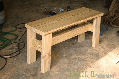 how to make legs for a bench small rustic bench a how to killer b designs