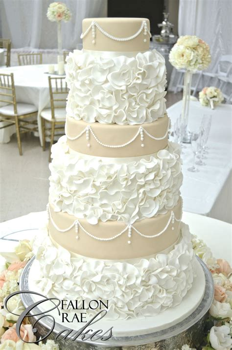 Wedding Ruffled by Ruffled Wedding Cake Cakecentral