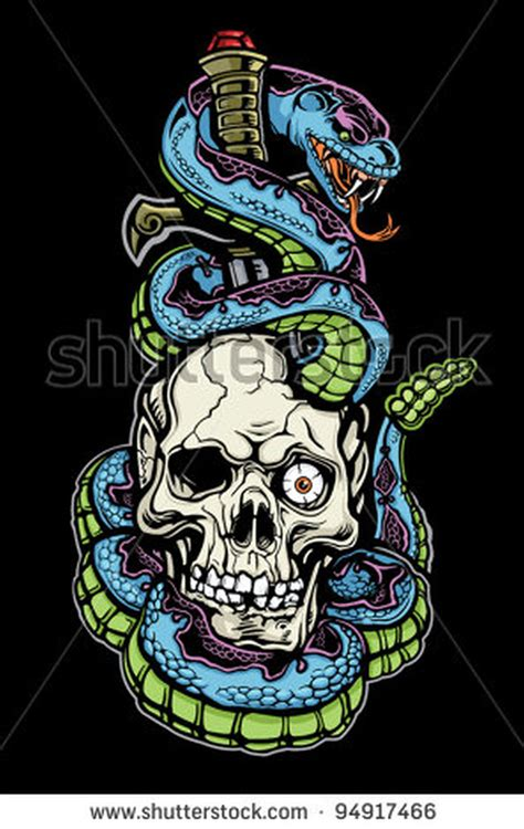 snake skull tattoo designs snake skull n dagger design tattoos book 65 000