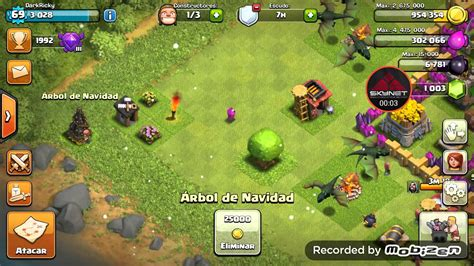 in coc xmas tree in 2016 coc quitando 225 rbol de navidad removing tree