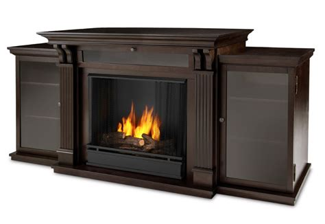 gel fireplace 67 quot walnut entertainment center gel fireplace