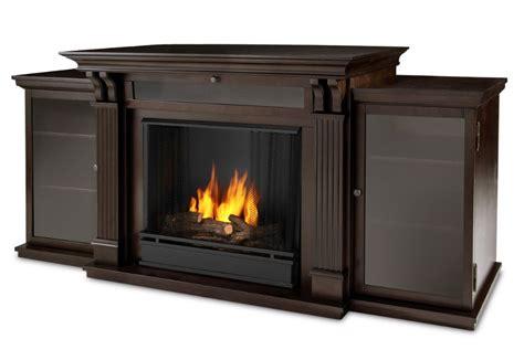 67 quot walnut entertainment center gel fireplace