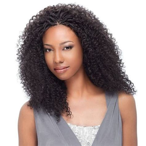 box braids hairstyle human hair or synthtic human hair wet and wavy micro braids sensationnel