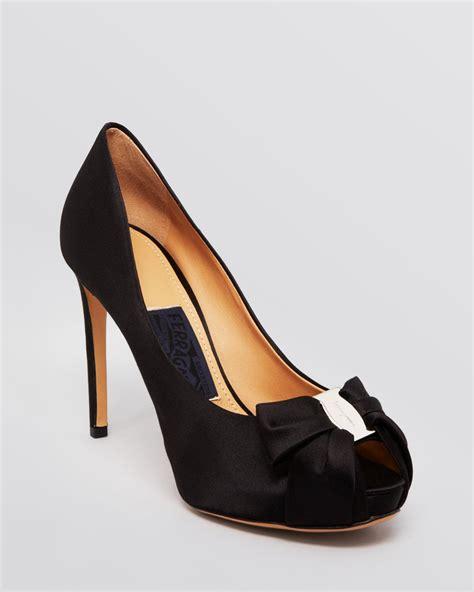 ferragamo high heels ferragamo pianka high heel peep toe platform evening pumps