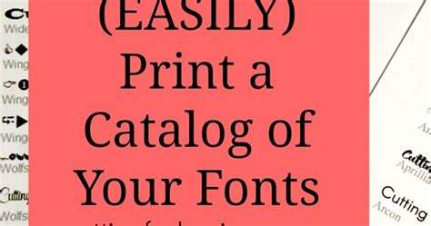 printable font catalog how to easily print a catalog of your fonts fonts