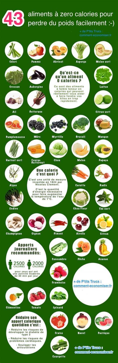 lista alimenti calorie la liste des 43 aliments 224 zero calorie pour perdre du