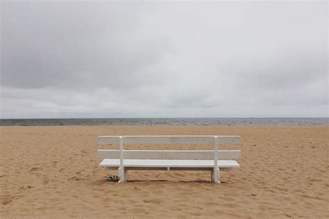 bench on the beach bench beach sea hd wallpaper