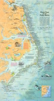 carolina outer banks map my imaginary ghost fleet of the outer banks