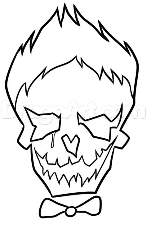 Cute Joker Coloring Pages | suicide squad joker skull coloring cute coloring pages
