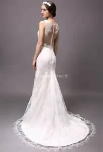 robe de mariã e dentelle dos nu robe de mari 233 e avec manches fermeture boutons dos dentelle