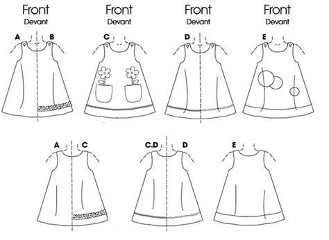 printable children s vest pattern b3772 toddlers children s button shoulder dresses