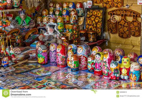 traditional russian gifts russian souvenirs stock photo image 58396812