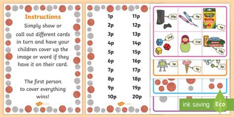 Toy Shop Bingo Money Coins Pounds Pence Foundation