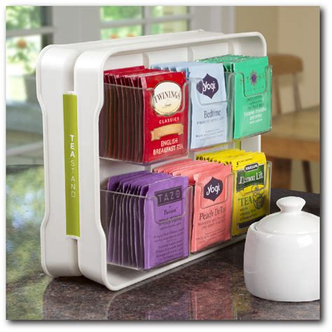 tea organizer holds 100 tea bags in 5 quot wide space