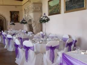 Add a touch of class and elegance to your wedding day breakfast and hire our chair covers and a