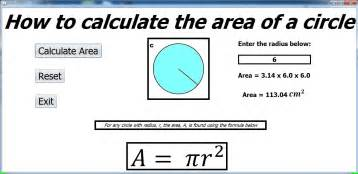 calculate area how to calculate the area of a circle in java netbeans