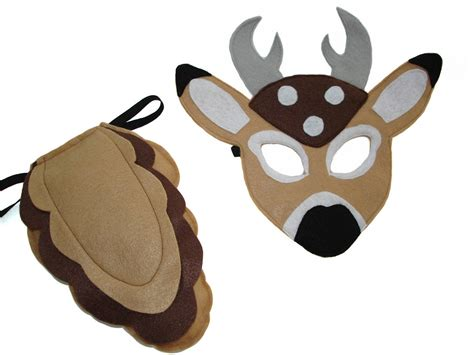 children s woodland animal deer felt mask and tail set