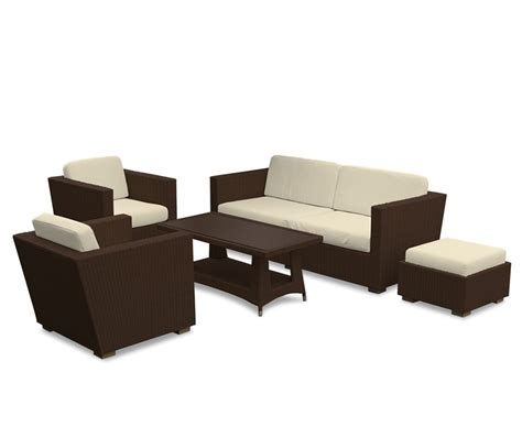 all weather rattan sofa riviera all weather wicker sofa set w coffee table