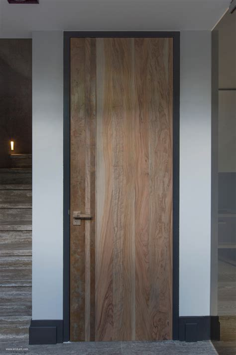 Wood Grain Interior Doors by Ultramodern Sleek House With Sharp Lines