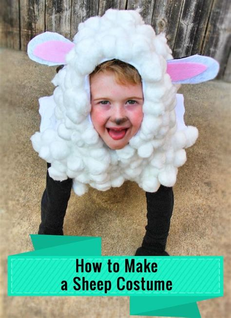 sheep costume for the boy who needed a sheep costume