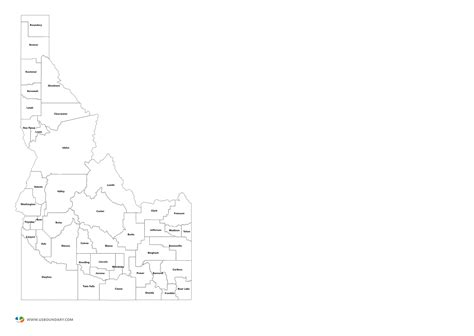 Idaho County Map Outline by State Counties Maps