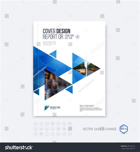 layout of a cover brochure template layout cover design annual stock vector