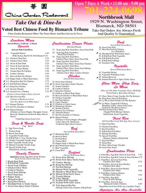 China Garden Bismarck Nd by Yellowbook The Local Yellow Pages Directory